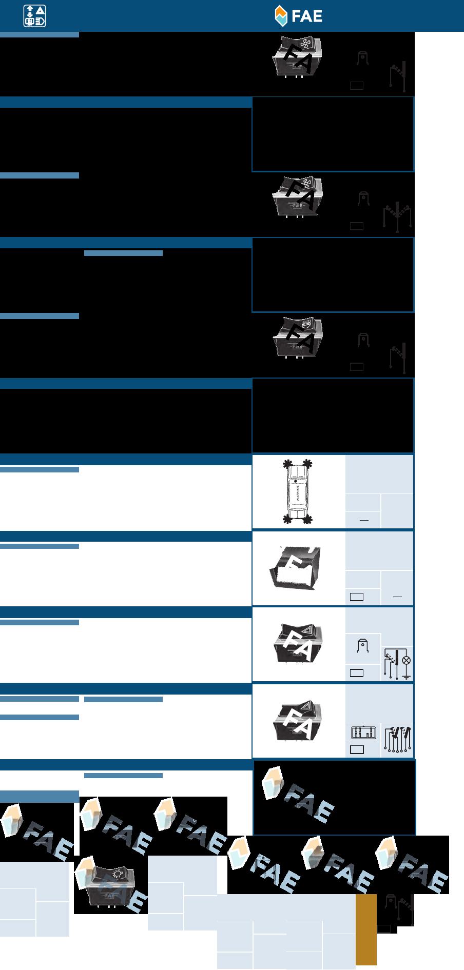 FAE 67230 Interruptores